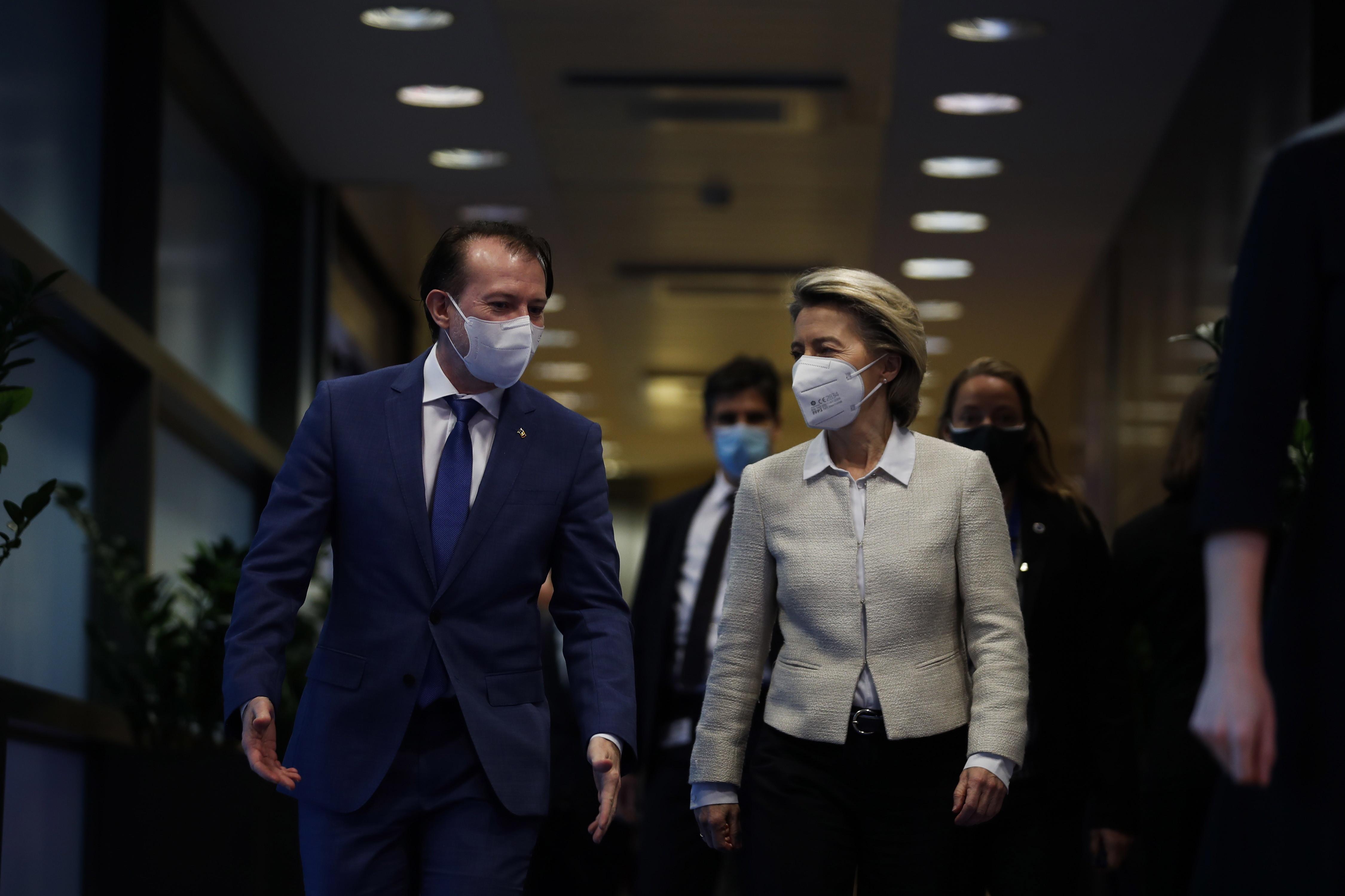 Premierul Florin Cîțu, la Bruxelles pentru negocieri privind Planul Naţional de Redresare şi Rezilienţă
