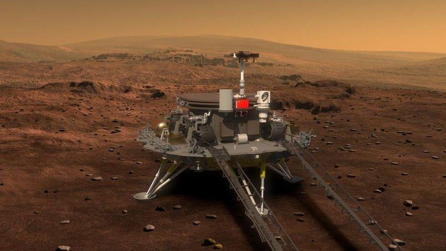 Roverul chinezesc Zhurong a coborât cu succes pe suprafața planetei Marte