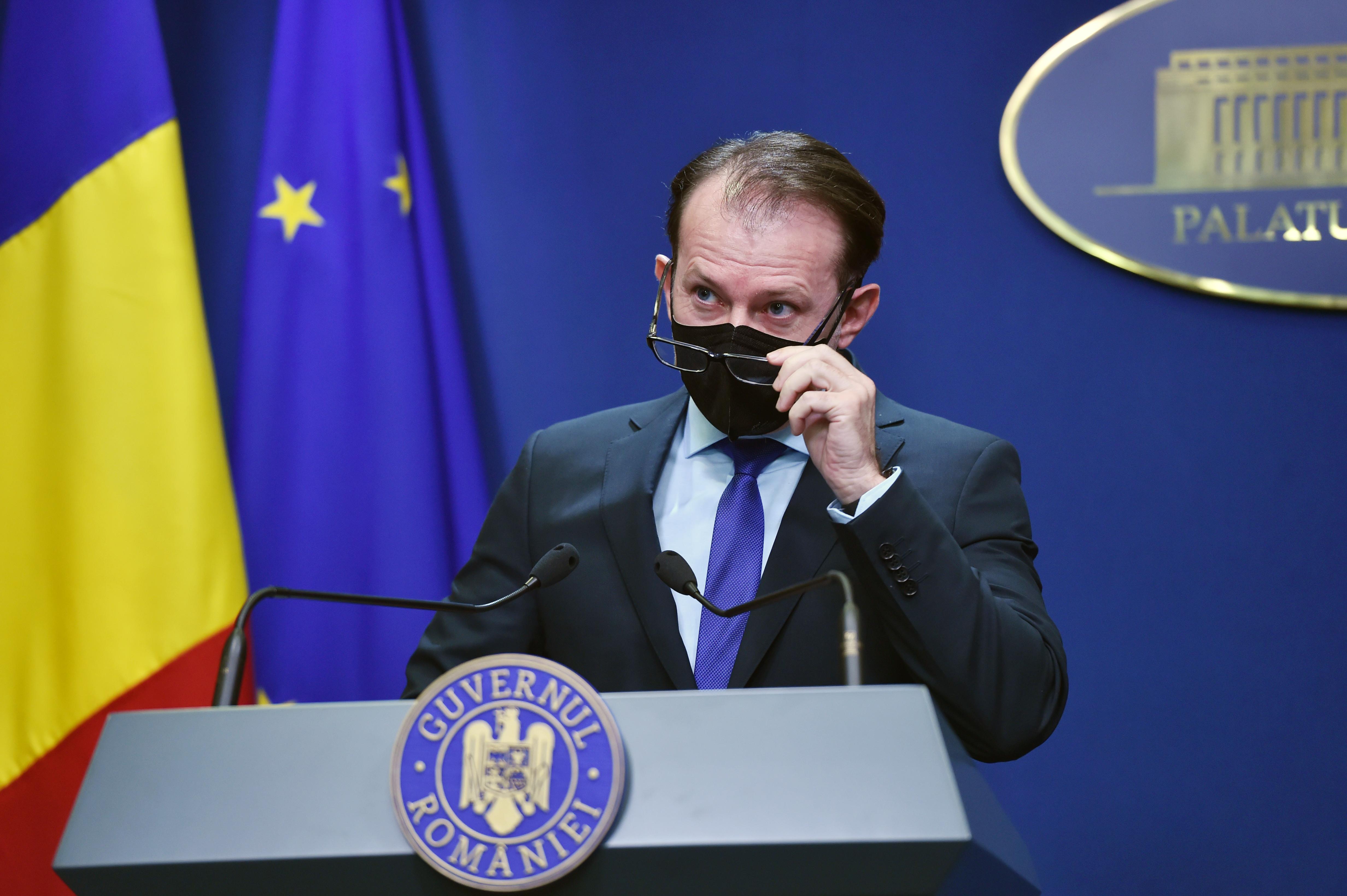 """Premierul Florin Cîțu, despre un nou val de infectări în România: """"Nu ar trebui să existe această discuţie"""""""