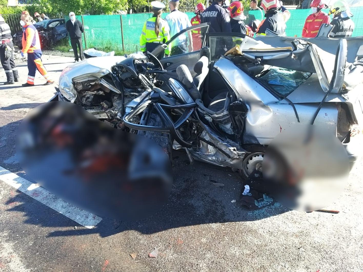 Accident grav pe DN1. Cinci persoane au murit