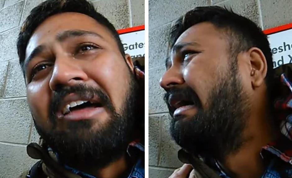 Reacția unui pedofil prins în flagrant în timp ce voia să se întâlnească cu o minoră. VIDEO