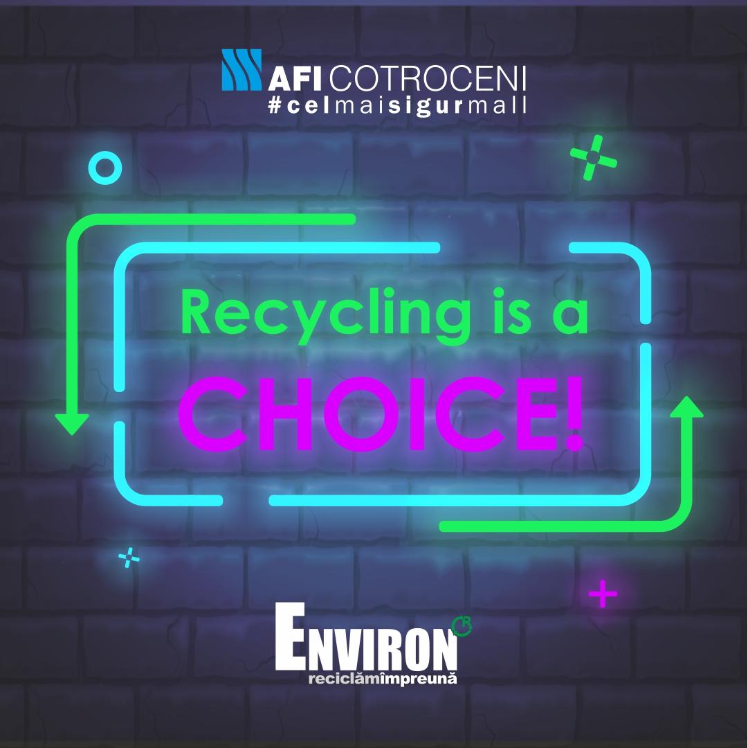 (P) Reciclarea, întotdeauna alegerea corectă la AFI Cotroceni