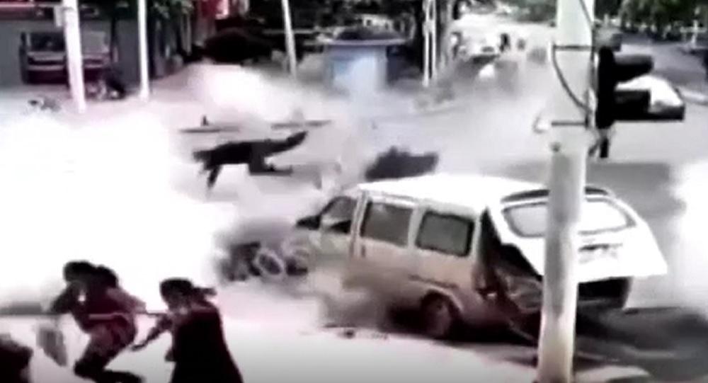 Explozie puternică în Wuhan. Patru persoane au fost rănite, iar o șosea a fost dislocată