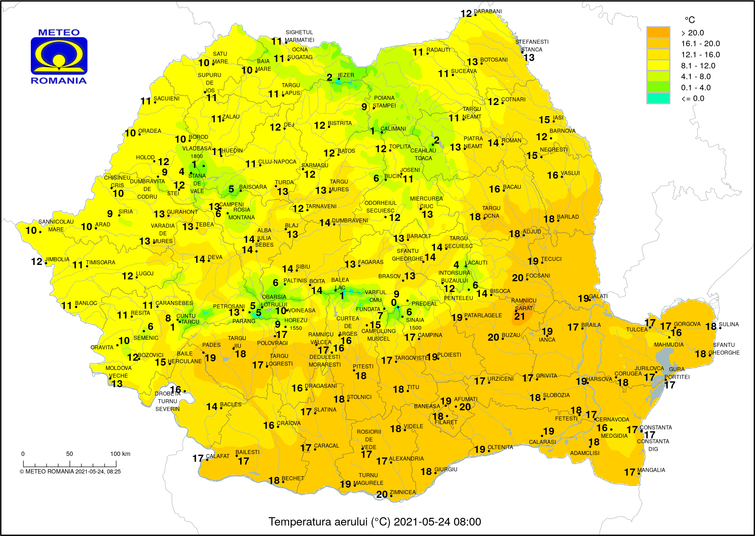 Vreme frumoasă de vară, dar vin furtuni și ploi puternice în aproape toată țara. Prognoza pe regiuni