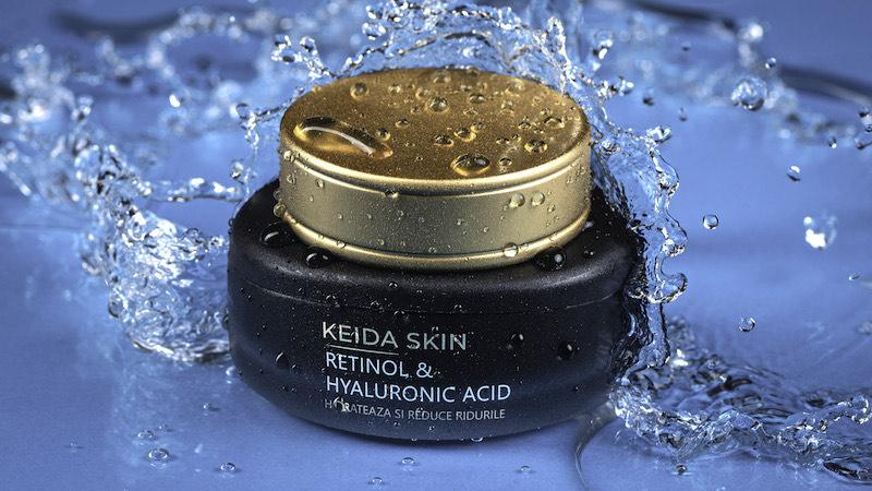 (P) Crema KEIDA SKIN cu Retinol și Acid Hialuronic, formula inovatoare cu 6 ingrediente active