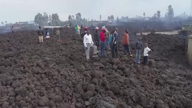 Dezastru în Congo, după erupția vulcanului Niragongo. 32 de morți, 170 de copii dispăruți