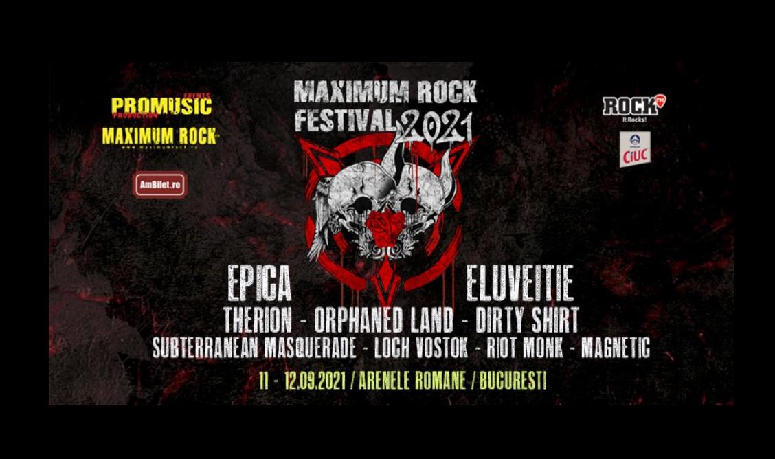 Maximum Rock Festival 2021 va avea loc în perioada 11-12 septembrie la București