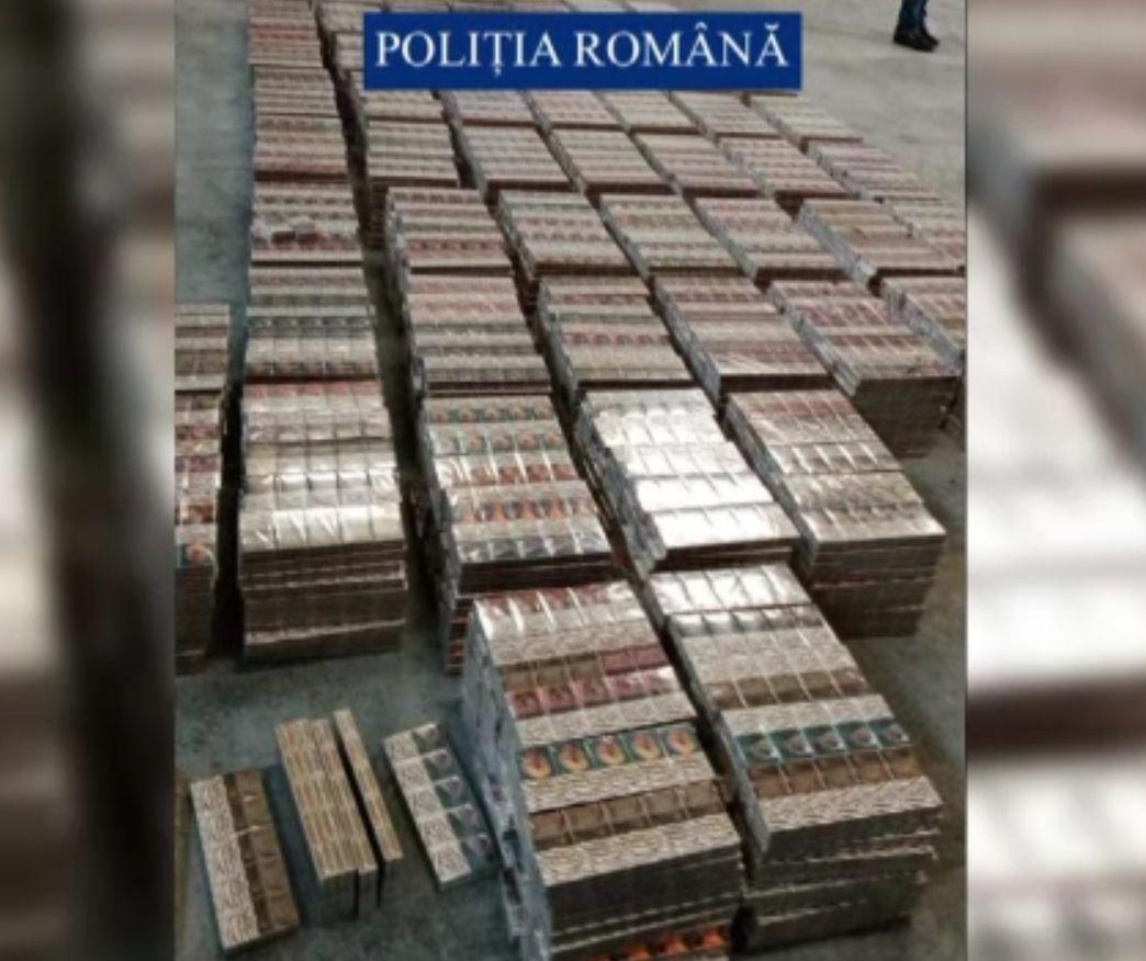Captură serioasă de țigări de contrabandă, într-un camion în Arad