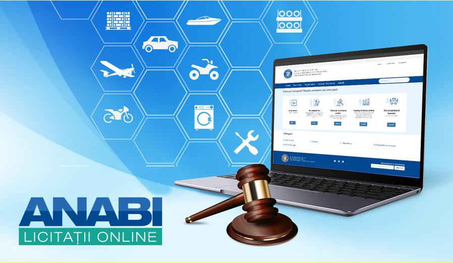 Mașini de lux și monede virtuale scoase la licitații de ANABI prin mijloace electronice