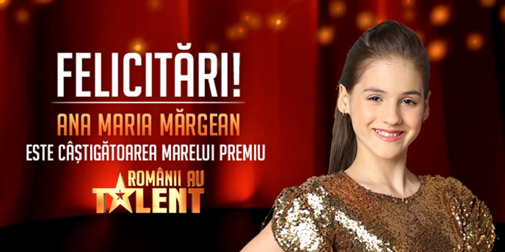 """Ana Maria Mărgean a câștigat """"Românii au Talent"""", sezonul 11. GIM a ocupat locul 2. Vezi momentele din finală"""
