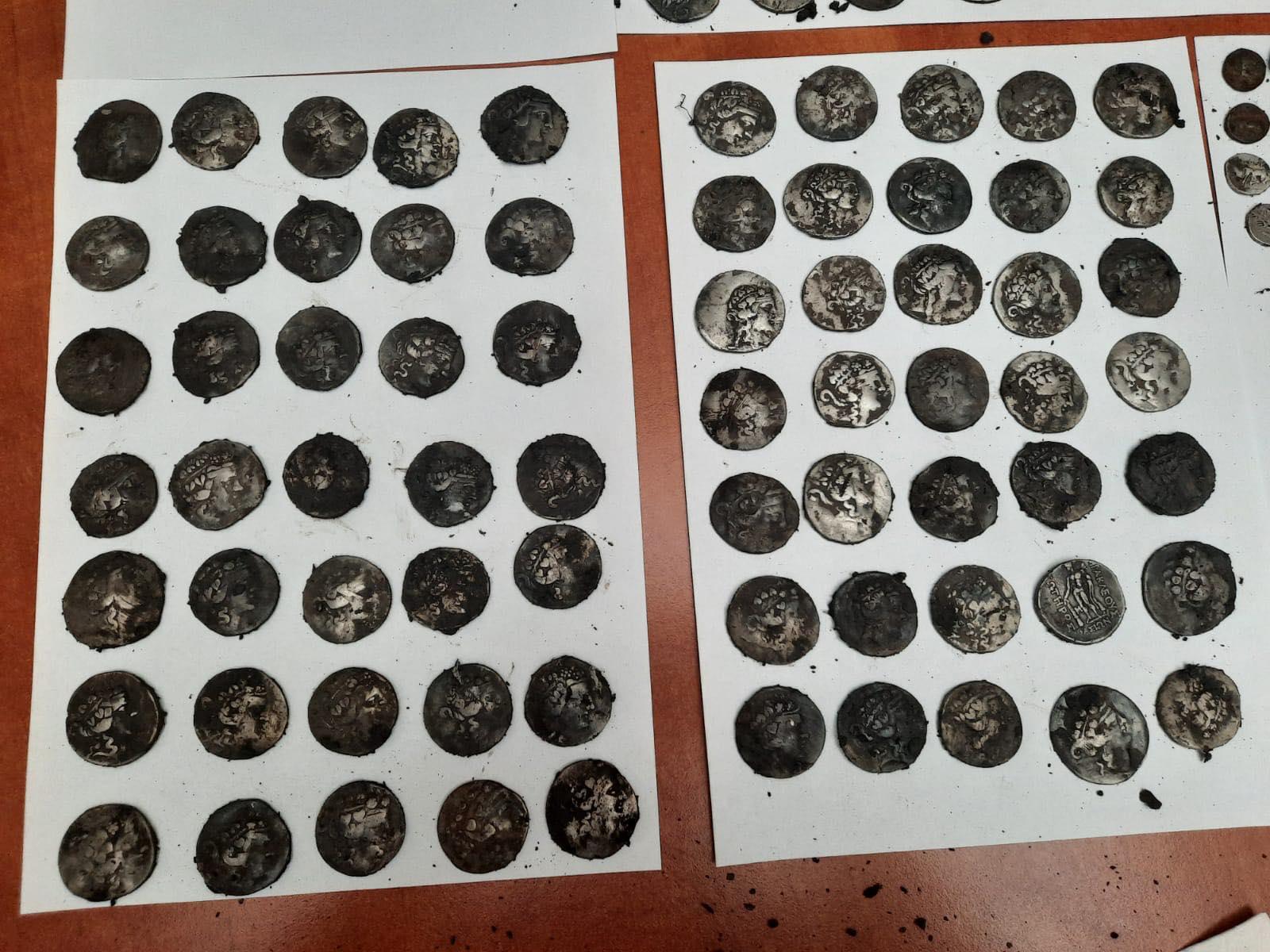 Peste 200 de monede antice au fost descoperite într-o pădure de lângă București