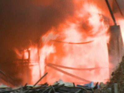 S-a luminat cerul in Stefanesti: a ramas doar cenusa dintr-o casa