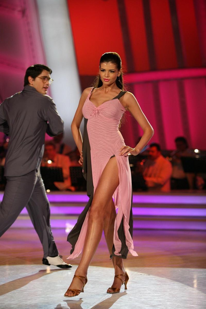 Monica Columbeanu i-a spus partenerului de dans ca este retardat!
