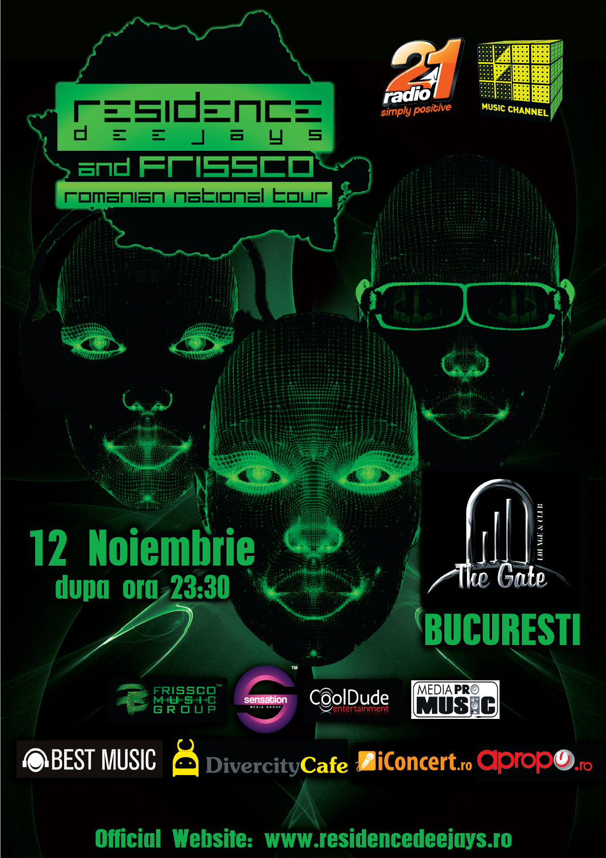 "Residence Deejays & Frissco pornesc ""Romanian National Tour"""