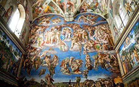 Si-a pictat Michelangelo amantii pe tavanul Capelei Sixtine?