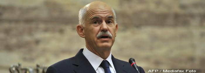 Premierul George Papandreou a obtinut votul de incredere al Parlamentului elen