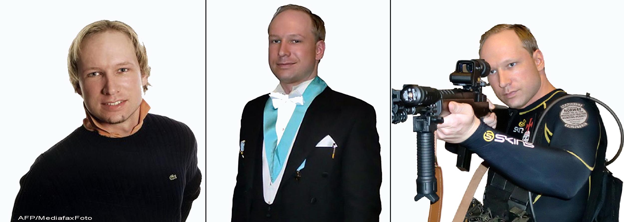 Imbracat cu o camasa alba si cravata. UCIGASUL Norvegiei, la prima aparitie publica la tribunal