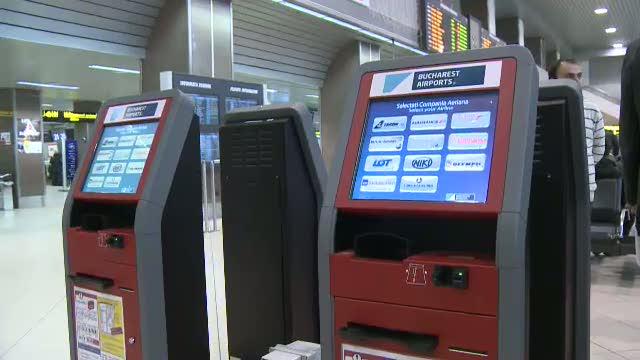 12 aparate de check-in automat, inaugurate pe Otopeni. Romanii prefera insa sa stea la coada