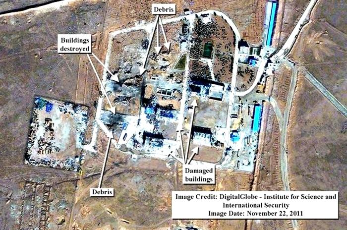 Imagini din satelit. Uzina de rachete nucleare, distrusa de o explozie in Iran