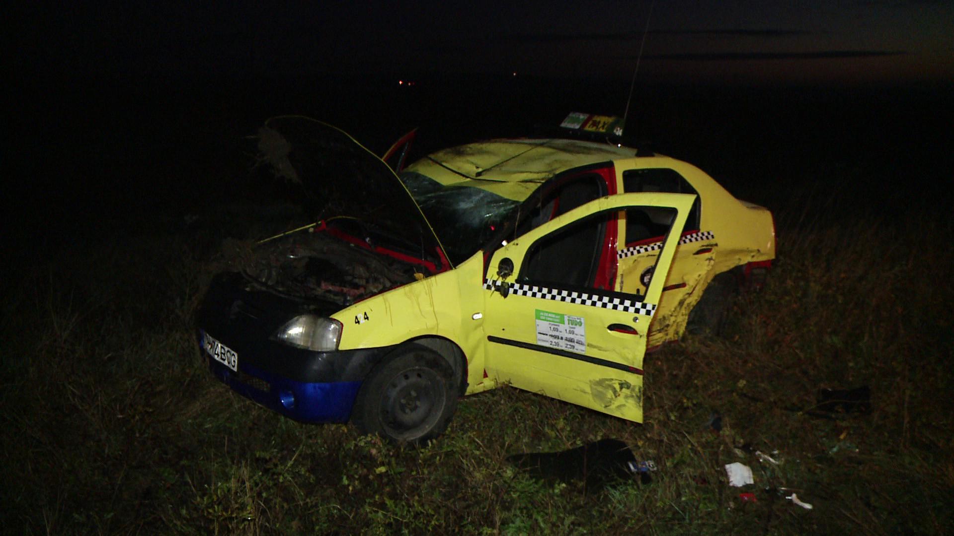 Accident mortal langa Recas. Un medic din Lugoj care a adormit la volan a izbit in plin un taxi