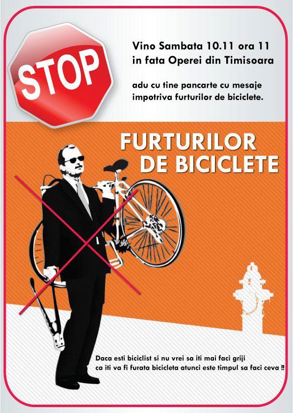 Protest impotriva furtului de biciclete. 100 de bikeri din Vestul tarii sunt asteptati la eveniment