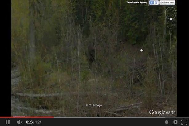 Creatura legendara surprinsa pe Google Earth.