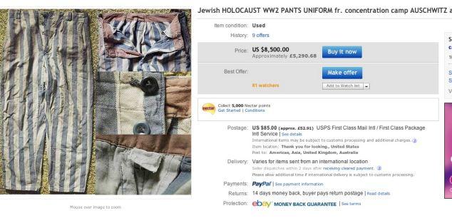 Licitatia pentru care eBay este criticata in toata lumea. Site-ul a sters imediat toate produsele