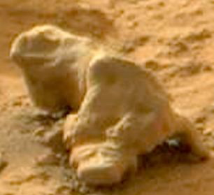 Rover-ul Curiosity a fotografiat o piatra care arata ca o iguana pe Marte. VIDEO