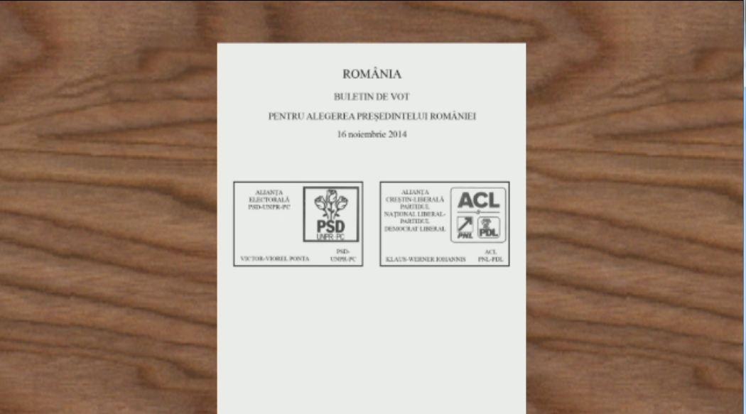 ALEGERI PREZIDENTIALE 2014. BEC a stabilit modelul buletinului de vot pentru alegerile din 16 noiembrie. Cum arata acesta
