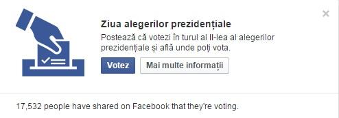 ALEGERI PREZIDENTIALE 2014. Facebook a marcat ziua votului cu o aplicatie surpriza