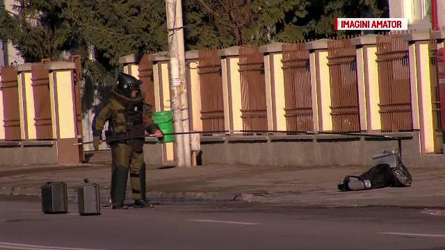 Alerta cu bomba din Neamt a fost ridicata. Proprietarul rucsacului suspect era un om al strazii