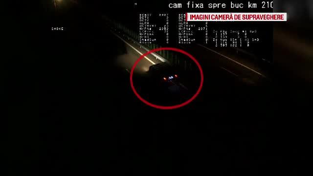 Camere de supraveghere: Momentul in care un sofer inconstient a intrat pe contrasens pe Autostrada Soarelui