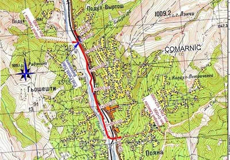Proiectul variantei de ocolire prin Comarnic, facut pe o harta ruseasca. Explicatia Companiei Nationale de Drumuri