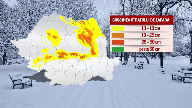 Localitati ramase in intuneric si zeci de case inundate. Romania, intre COD GALBEN de ninsori si COD PORTOCALIU de inundatii