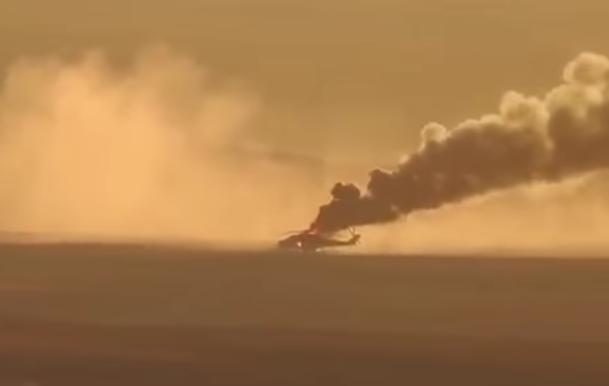 Statul Islamic anunta ca a distrus un elicopter rus in centrul Siriei. Observatorul pentru Drepturile Omului confirma. VIDEO