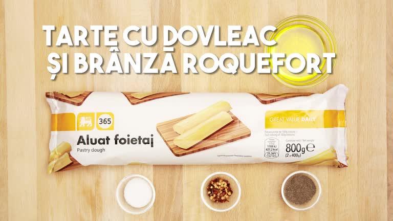 Tarte cu dovleac si branza Roquefort
