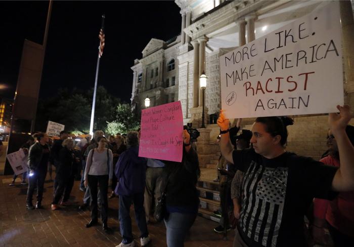 A treia noapte de proteste anti-Trump in Statele Unite: o persoana impuscata in Portland si 11 arestati la New York. VIDEO