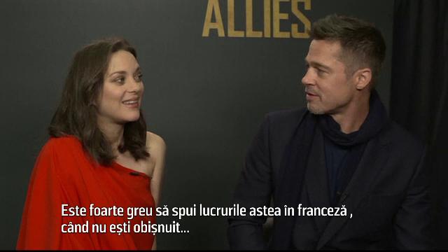 Brad Pitt, fascinat de Marion Cotillard: