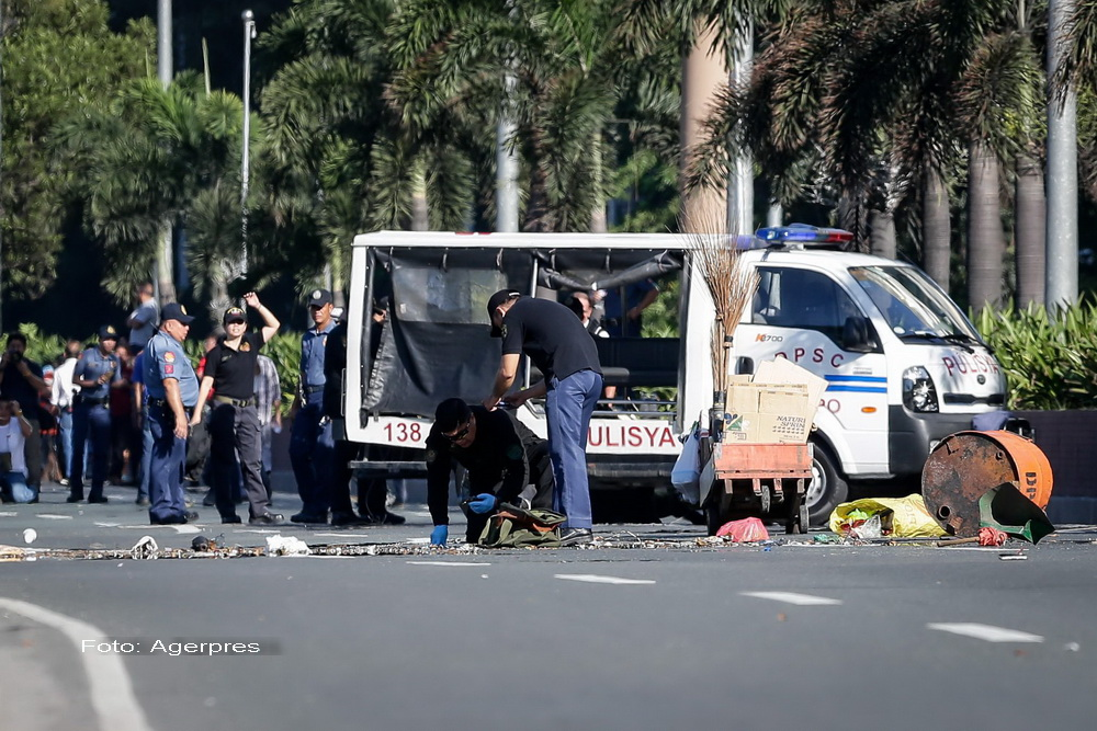 Atentat dejucat langa Ambasada SUA din Manila. Bomba amplasata de islamisti, cu raza de actiune de 100 de metri, dezamorsata