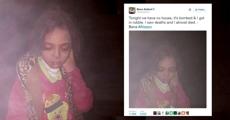 Fetita care a devenit simbolul razboiului din Siria. Imaginea sfasietoare in care apare dupa ce i-a fost bombardata casa