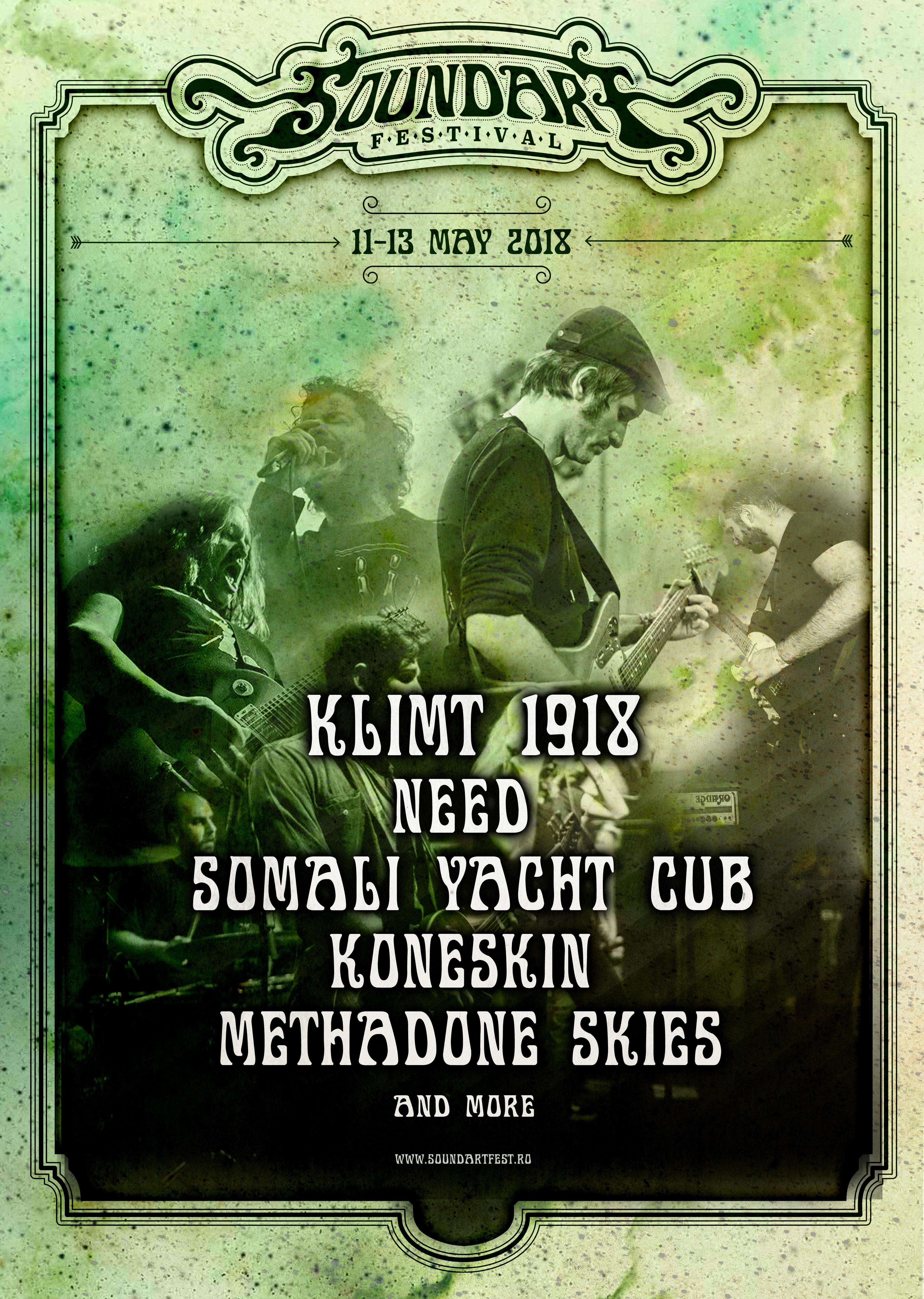 SoundArt Festival 2018. Somali Yacht Club și Need vin la cel mai mare eveniment de stoner rock din România
