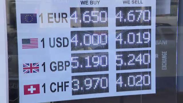 Euro a atins un nou nivel record, aproape de 4,65 lei, peste nivelul din august 2012. Explicaţia lui Tariceanu