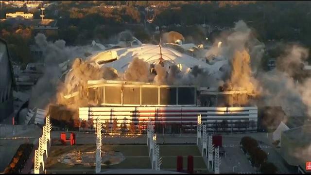 Un stadion din SUA a fost demolat în doar 15 secunde