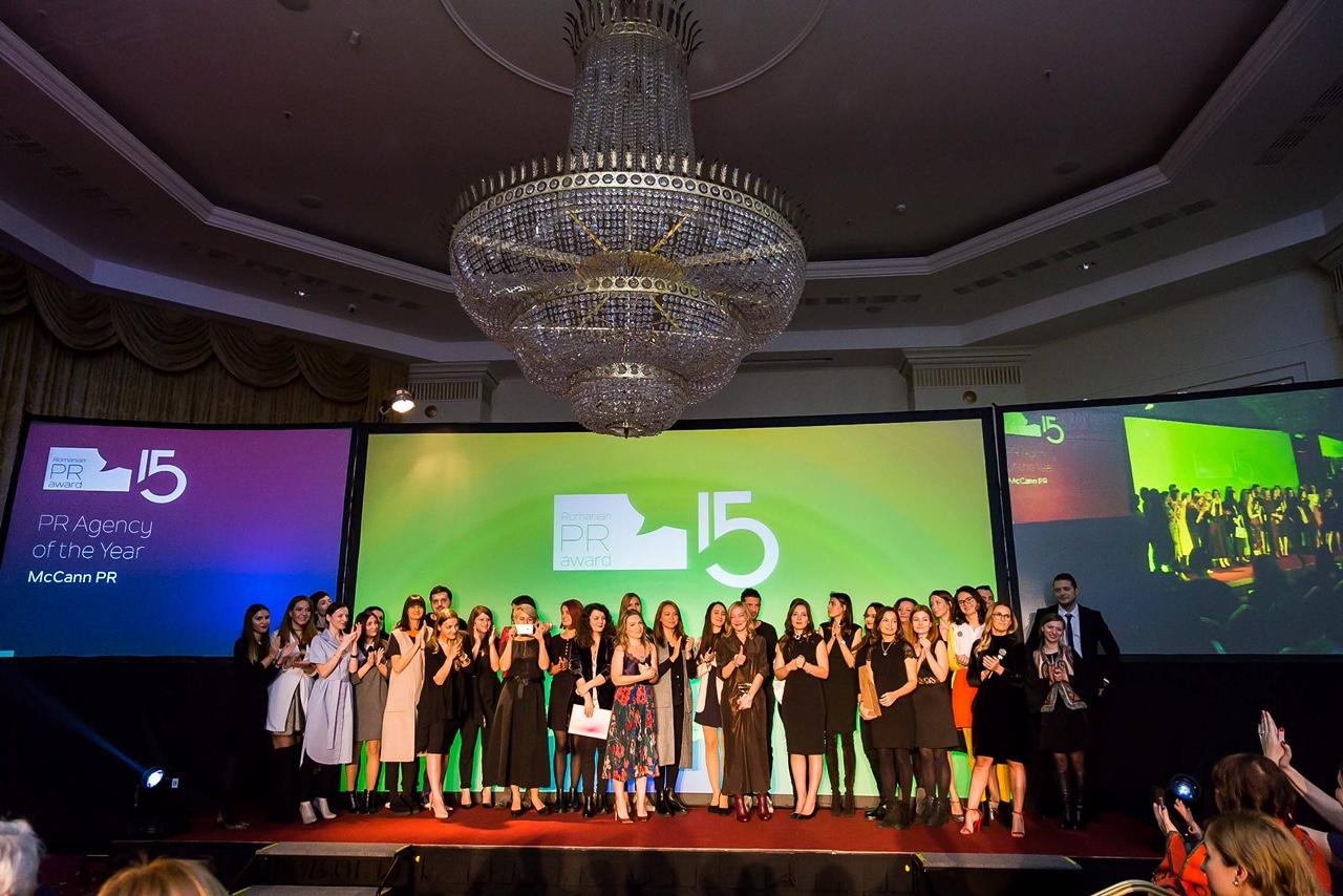 (P) McCann PR - desemnată Agenția Anului 2017 la Romanian PR Award