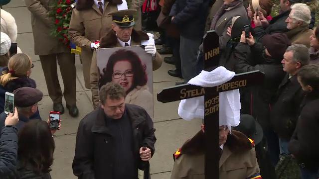 Stela Popescu, înmormântată cu onoruri militare. Mesajul emoționant al lui Alexandru Arșinel