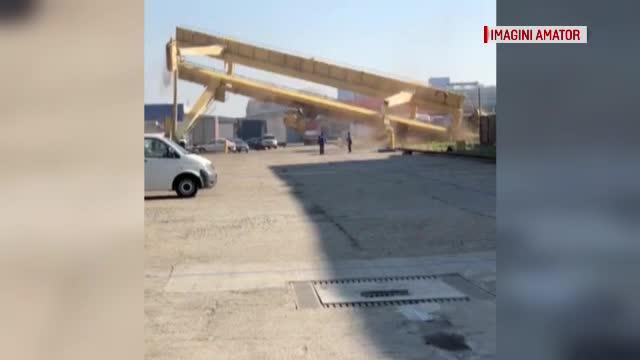 Macara căzută pe un şantier din Cluj, după ce muncitorii i-au tăiat un picior. Ce plănuiau