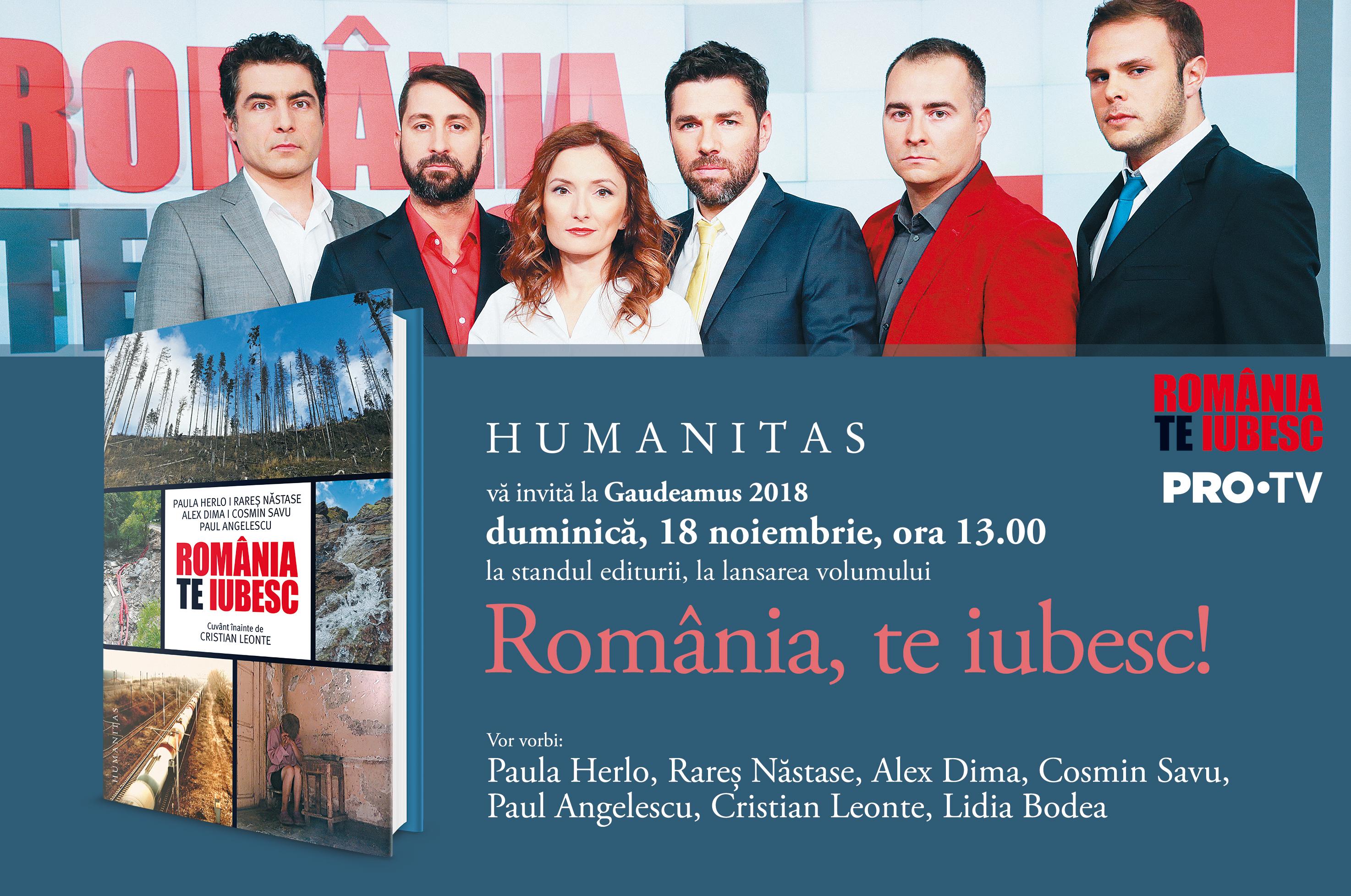 Paula Herlo, Alex Dima, Cosmin Savu, Paul Angelescu și Rareș Năstase lansează cartea România, te iubesc!