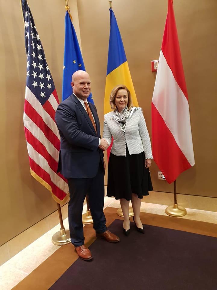Carmen Dan, întrevedere cu procurorul general interimar al SUA, la Washington