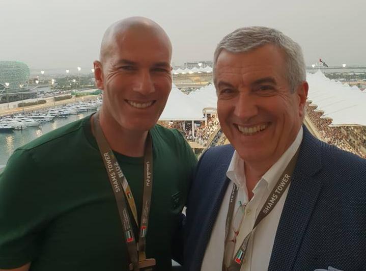 Tăriceanu, alături de fostul rege Juan Carlos şi de Zidane la Formula 1 din Abu Dhabi