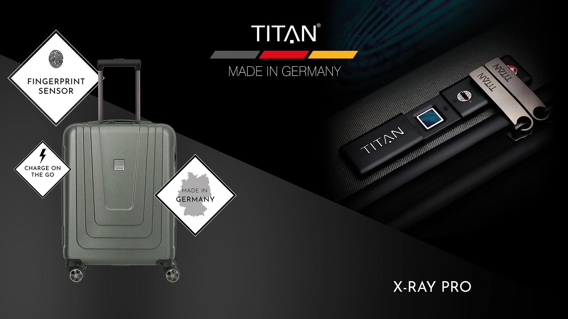 (P) Inbagaj.ro a lansat în Romania în premieră bagaje cu amprenta digitala X-RAY de la producătorul german TITAN